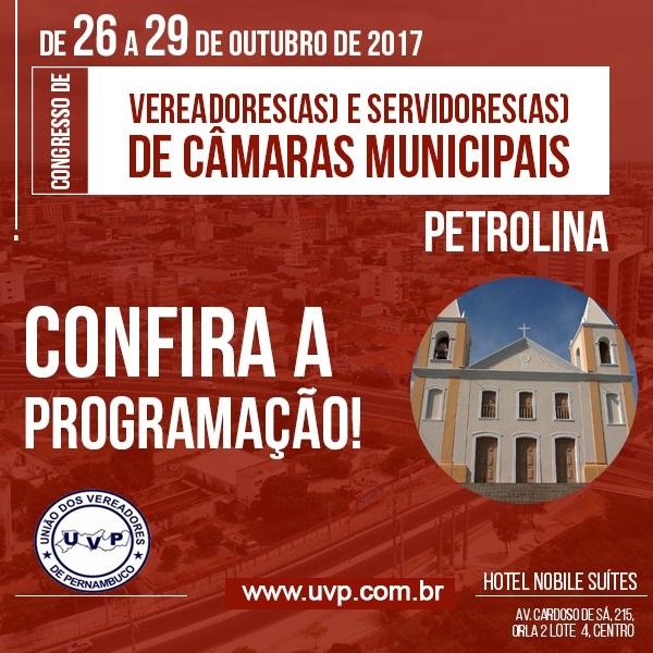 CONGRESSO DE VEREADORES - PETROLINA