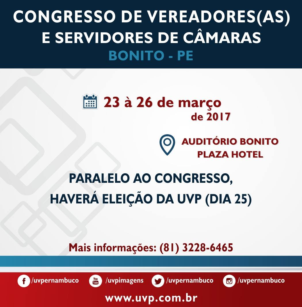 CONGRESSO DE VEREADORES(AS)  E SERVIDORES DE CÂMARAS