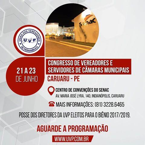 CONGRESSO DE VEREADORES - CARUARU -  JUN/2017