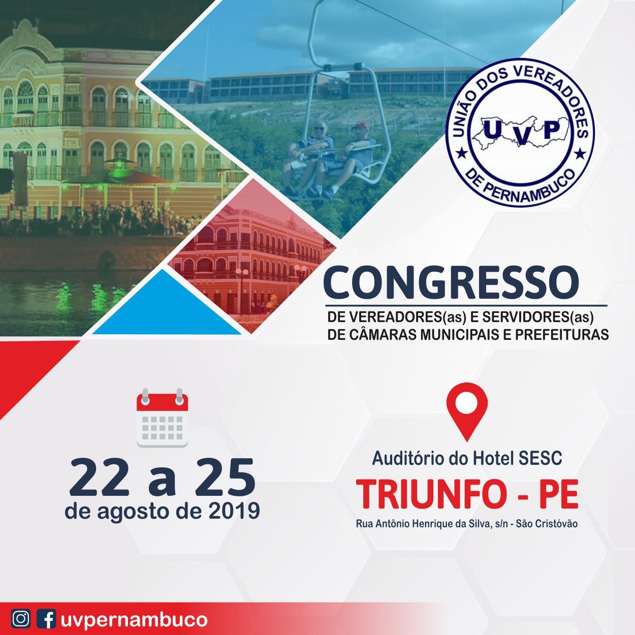 Congresso da UVP acontece na cidade de Triunfo
